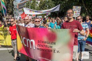 Am 31. August geht der CSD Münster wieder auf die Straße. (Archivbild: Thomas Hölscher)