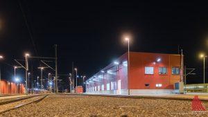 Diese Halle wurde von der DB Regio eigens gebaut, um die Züge des britischen Konkurrenten National Express zu warten. (Foto: wf / Weber)
