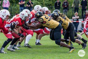 Das Stadtderby 2018 mit den Münster Blackhawks und den Münster Mammuts. (Foto: Thomas Hölscher)