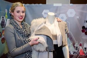 Nomadenhaft und industriell - modern und kreativ. Hanna Stroetmann verarbeitete für ihre Kollektion alte, bereits getragene Pelze von Fuchs und Kanin. (Foto: th)