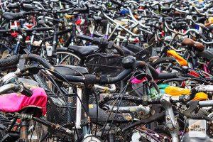 Wild abgestellte Fahrräder gehören auch zu Münsters Stadtbild. (Foto: Tessa-Viola Kloep)