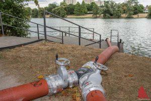 Die Pumpen am Aasee werden abgestellt. (Foto: Thomas Hölscher)