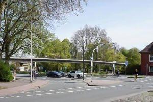Die Radverkehrsbrücke soll am Aegidiitor über die Weseler Straße führen. (Foto: StadtVerkehr Planungsgesellschaft)