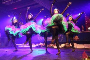 Auch münstersche Akteure wie die Tanzgruppe der Schlossgeister wirkten bei der glamourösen Gala mit. (Foto: je)