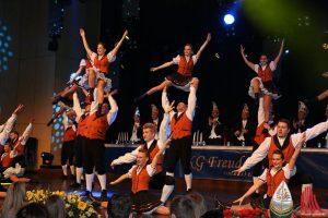 """Das """"Greesberger Tanzkorps"""" beeindruckte mit karnevalistischem Showtanz. (Foto: Jennifer von Glahn)"""