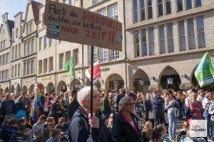 Fridays for Future ruft in Münster 25. Juni 2021 zum Klimastreik auf. (Archivbild: Susanne Wonnay)