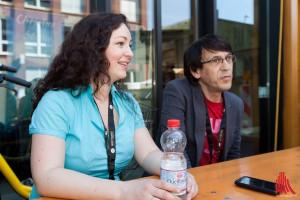 Fug & Janina im Interview mit Alles Münster beim Hafenfest. (Foto: ml)