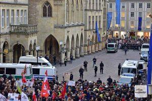 Auch die diesjährigen Veranstaltungen der AfD werden in Münster unter großen Sicherheitsvorkehrungen stattfinden. (Archivbild: Tessa-Viola Kloep)