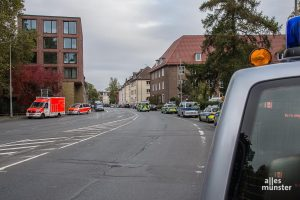 Großeinsatz der Einsatzkräfte bei der Geiselnahme in der JVA an der Gartenstraße. (Foto: Thomas Hölscher)