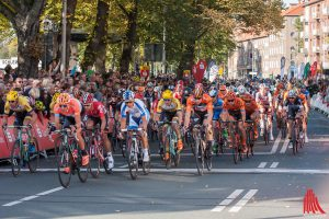 Beim Münsterland Giro haben die Radsportler Vorfahrt auf Münsters Straßen. (Archivbild: sg)