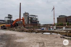Baustopp am Hafen: Die Baustelle Hafencenter am Hansaring. (Archivbild: Thomas Hölscher)