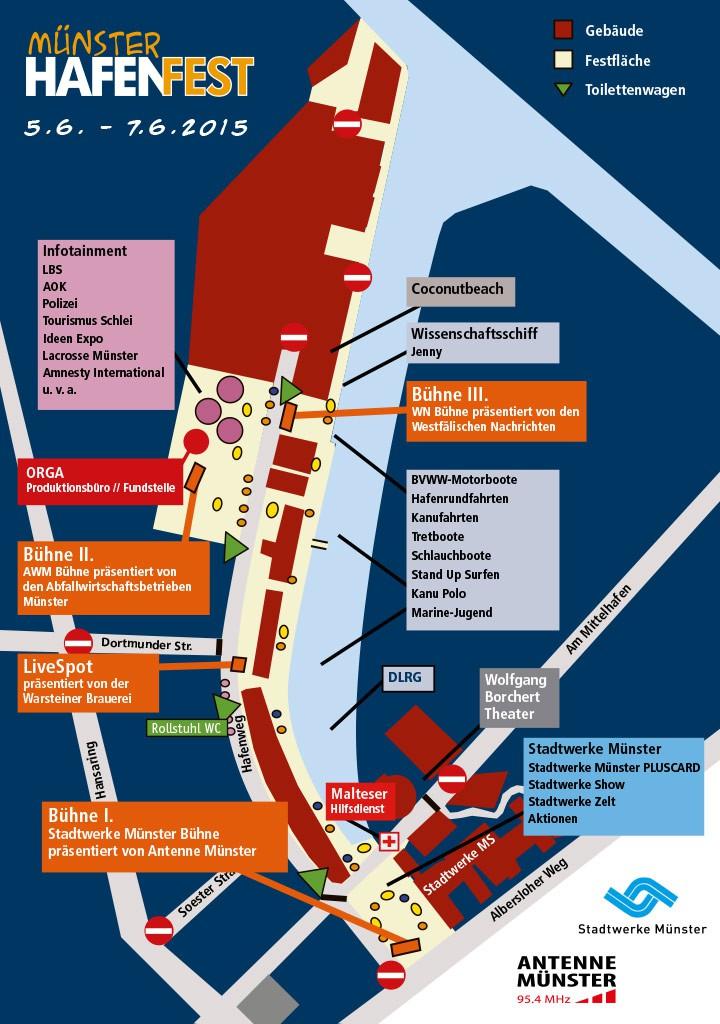 Hafenfest Geländeplan