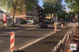 In diesem Bereich muss ab Donnerstag für Monate mit Verkehrsbehinderungen durch die Fernwärme-Baustelle gerechnet werden. (Foto: Thomas Hölscher)