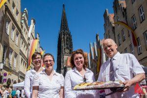 Beim Hansemahl sollen 7000 westfälische Schnittchen über die Tafel gehen. (Foto: th)