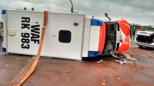 Bei dem Unfall mit einem Rettungswagen wurden drei Personen schwer verletzt. (Foto: POL MS)