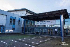 Das Impfzentrum in der Halle Münsterland ist betriebsbereit. (Foto: Thomas Hölscher)
