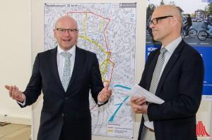 Oberbürgermeister Markus Lewe (li.) und Stadtdirektor Hartwig Schultheiß. (Foto: th)