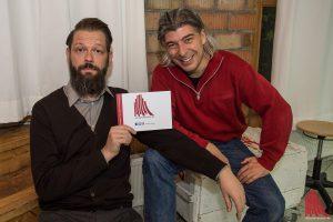 Adrian Engels (li.) und Markus Riedinger im ALLES MÜNSTER Interview. (Foto: th)