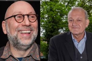 Jürgen Kehrer (li.) und Leonard Lansink kommen zu einer gemeinsamen Lesung ins Cineplex. (Fotos: sg / th)