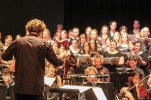 Stefan Vaselka dirigiert das Orchester