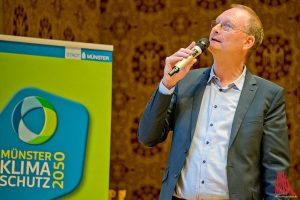 Der Meteorologe Sven Plöger während der Vorstellung des Klimaanpassungskonzeptes der Stadt Münster. (Foto: mb)