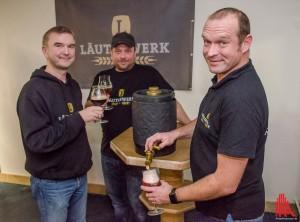 """Für (v.l.) Ingo Meister, Marc Pinnekamp und Marcus Vortkamp ging mit dem """"Läuterwerk"""" der Traum einer eigenen Brauerei in Erfüllung. (Foto: th)"""