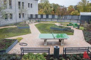 Patienten aus der geschlossenen Abteilung können den Dachgarten nutzen. (Foto: Thomas Hölscher)