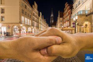 Corona breitet sich aus, Münster setzt auf Solidarität. (Foto: Thomas M. Weber / Bildmontage: Thomas Hölscher)
