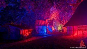 Bei Münster leuchtet erstrahlte der Mühlenhof mal in anderem Licht. (Foto: wf / Weber)