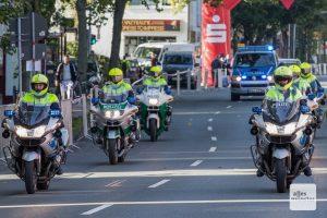 Viele Straßen werden durch die Polizei permanent oder kurzzeitig gesperrt. (Archivbild: Carsten Bender)