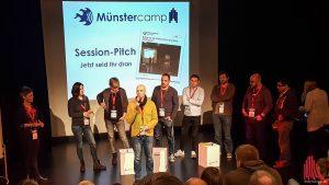 Kaum kam der Aufruf, da standen sie schon Schlange, um ihre Sessions beim Münstercamp 2018 vorzustelle
