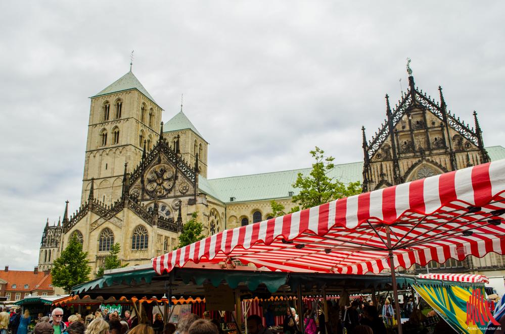 Der Wochenmarkt findet auch zum Stadtfest statt. (Foto: th)