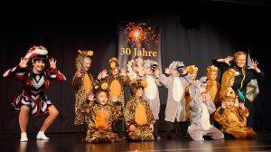 """Die Mini Mäuse, die jüngsten der Tänzerinnen und Tänzer, begeisterten mit ihrem Schautanz """"Dschungelfieber"""". (Foto: )"""