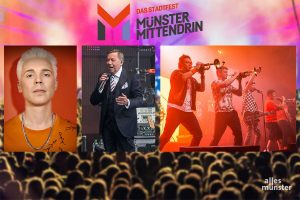 Die Top-Acts haben zugesagt, 2021 bei Münster Mittendrin aufzutreten: Felix Jaehn, Roland Kaiser und Querbeat (Fotos: Jens Koch, Thomas Hölscher, Claudia Feldmann)