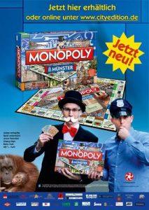 So wurde damals für die Erstauflage des Münster-Monopoly geworben. (Foto: Handelsagentur Rose)