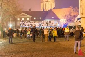 Die große Abschlusskundgebung soll um 18:00 Uhr auf dem Domplatz stattfinden. (Foto: wf / Weber)