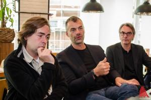 (v.l.:) Die Organisatoren Marvin Lindenberg und Marcus Geßler ziehen mit Fritz Schmücker von Münster Marketing eine erste Bilanz. (Foto: th)