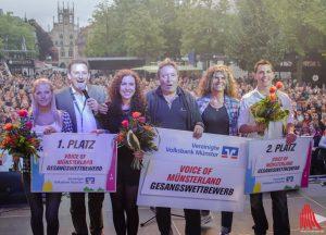 """Die Vorjahressieger und Organisatoren von """"Voice of Münsterland"""". (Foto: th)"""