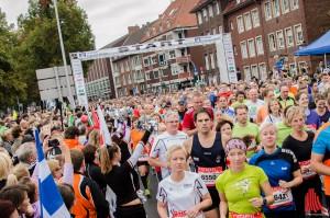 Am 8. September gehört die Innenstadt wieder den vielen Läuferinnen und Läufern, die am Volksbank-Münster-Marathon teilnehmen. (Archivbild: Thomas Hölscher)