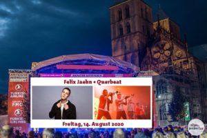 Felix Jaehn und Querbeat spielen beim Stadtfest Münster Mittendrin 2020. (Bildmontage: Thomas Hölscher / Fotos: Viktor Schanz (li.), Claudia Feldmann)