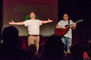 Ande Werner (li.) und Lars Niedereicholz von Mundstuhl bedanken sich bei ihren treuen Fans. (Foto: tm)