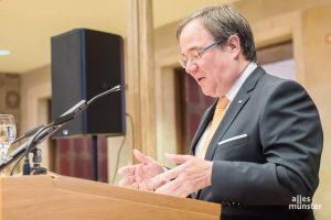 Ministerpräsident Armin Laschet beim Neujahrsempfang 2018 der CDU Münster im Rathaus der Stadt. (Archivbild: Thomas M. Weber)