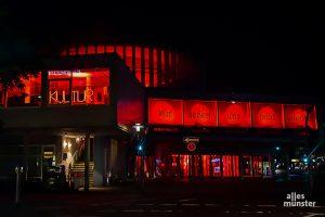 """Auch das Theater Münster nahm an der bundesweiten Aktion """"Night of Light"""" teil. (Foto: Tessa-Viola Kloep)"""