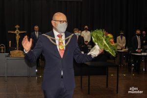 Markus Lewe ist der erste Oberbürgermeister in der Geschichte der Stadt, der dieses Amt zum dritten Mal in Folge bekleidet. (Foto: AM)