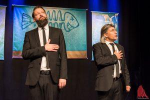 Onkel Fisch live auf der Bühne. (Foto: th)