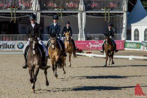 Die jungen Reiterinnen aus Münster, Steinfurt, Warendorf und Coesfeld bei der Dressur. (Foto: th)