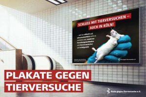 """Mit einer Plakataktion will der Verein """"Ärzte gegen Tierversuche"""" auch in Münster aufmerksam machen. (Foto: ÄgT)"""