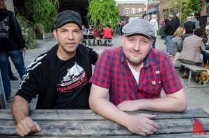 """Ole Plogstedt und Tim Hackemack, die beiden Initiatoren des """"Plattenladen für einen Tag"""". (Foto: th)"""