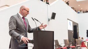 """Oberbürgermeister Markus Lewe ist sich sicher: """"Skulptur Projekte 2017 müssen Skulptur Projekte 2027 nach sich ziehen!"""" (Foto: wf / Weber)"""