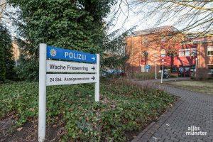 Auch wenn das Polizeipräsidium Münster in ein paar Jahren vom Friesenring wegziehen wird, soll dem Norden der Stadt eine Polizeiwache erhalten bleiben. (Foto: Thomas Shajek)